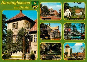 AK / Ansichtskarte Barsinghausen Freilichtbuehne Klosterkirche Rathaus Barsinghausen