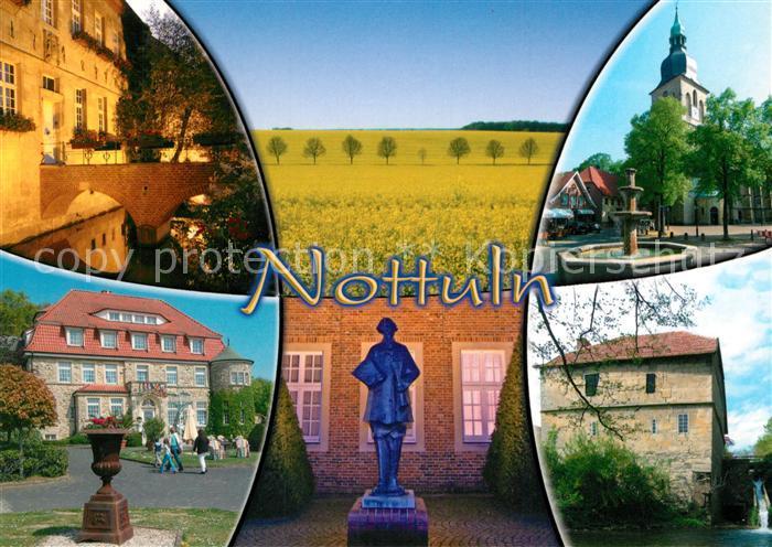 AK / Ansichtskarte Nottuln Kirche Denkmal Stadtansichten Nottuln