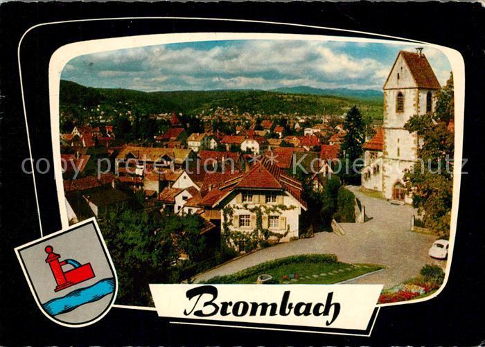 AK / Ansichtskarte Brombach_Loerrach Kirche Panorama Brombach Loerrach
