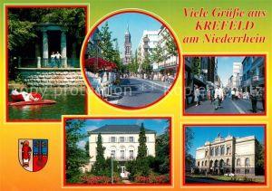 AK / Ansichtskarte Krefeld Schloss Stadtansichten  Krefeld