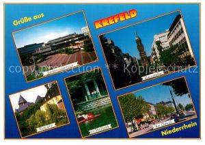 AK / Ansichtskarte Krefeld Seidenweberhaus Rheinstrasse Burg Linn Ostwall Stadtpark Krefeld