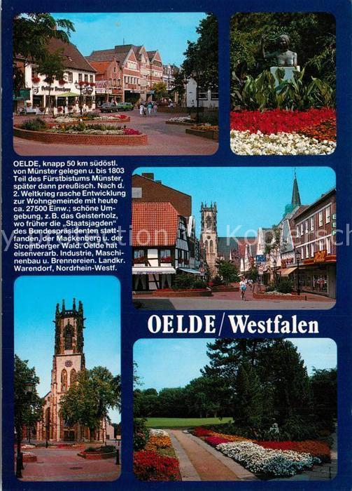 AK / Ansichtskarte Oelde Stadtplatz Park Ortsmotive Kirche Oelde