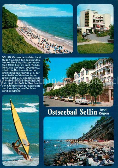 AK / Ansichtskarte Sellin_Ruegen Strandpartie Hotel Surfer Strandpartie Sellin Ruegen