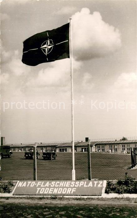AK / Ansichtskarte Todendorf_Ploen NATO FLA Schiessplatz Flagge Todendorf Ploen