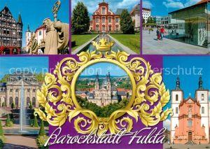 AK / Ansichtskarte Fulda Fachwerkhaus Skulptur Schloss Brunnen Dom Kirche Fulda