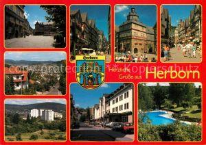 AK / Ansichtskarte Herborn_Hessen Orts und Teilansichten Schwimmbad Herborn Hessen