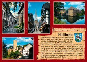 AK / Ansichtskarte Hattingen_Ruhr St. Georgskirche Steinhagen Wasserburg Haus Kemnade Hattingen Ruhr