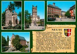 AK / Ansichtskarte Neuss Obertor St. Quirinus Muenster Rathaus Neuss