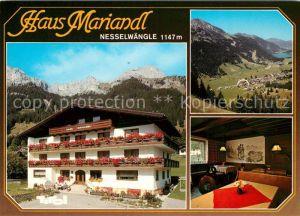 AK / Ansichtskarte Nesselwaengle_Tirol Pension Haus Mariandl Landschaftspanorama Tannheimertal Alpen Nesselwaengle_Tirol