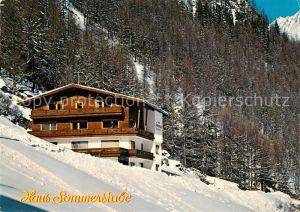 AK / Ansichtskarte Soelden_oetztal Gaestehaus Pension Haus Sommerstube oetztaler Alpen Soelden oetztal