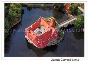 AK / Ansichtskarte Cervena_Lhota Zamek Wasserschloss Fliegeraufnahme Cervena Lhota