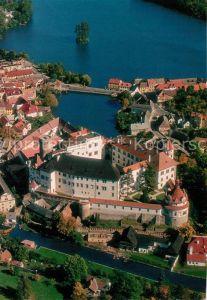 AK / Ansichtskarte Jindrichuv_Hradec Hrad a zamek Burg und Schloss Fliegeraufnahme Jindrichuv Hradec
