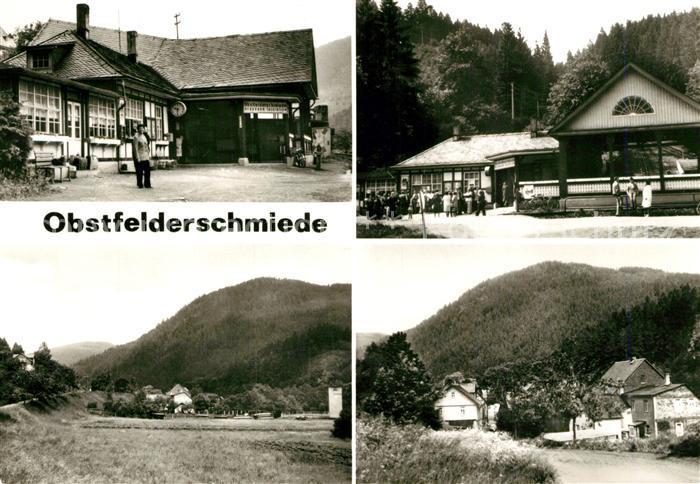AK / Ansichtskarte Obstfelderschmiede Bahnhof Teilansicht mit Blick zum Steinberg Obstfelderschmiede