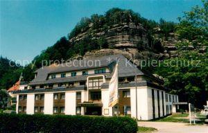 AK / Ansichtskarte Oybin Hotel Oybiner Hof Felsen Zittauer Gebirge Oybin