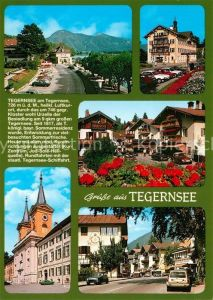AK / Ansichtskarte Tegernsee Uferstrasse Hotel Dorfkern Kloster Tegernsee