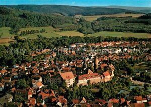AK / Ansichtskarte Schlitz Fliegeraufnahme mit Burg Schlitz Schlitz