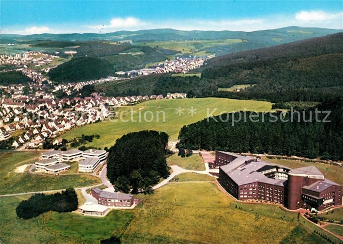 AK / Ansichtskarte Olpe_Biggesee Mutterhaus der Franziskanerinnen Fliegeraufnahme Olpe Biggesee
