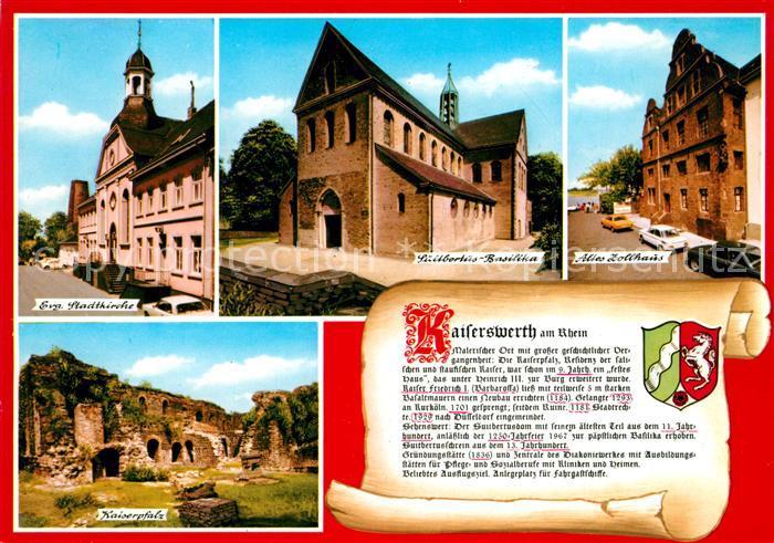 AK / Ansichtskarte Kaiserwerth Stadtkirche Kaiserpfalz Zollhaus Kaiserwerth