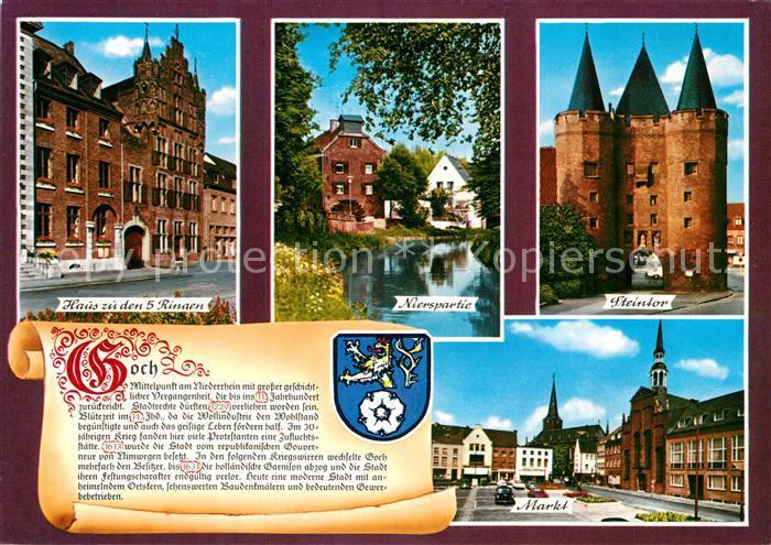AK / Ansichtskarte Goch Steintor Markt Nierspartie Goch