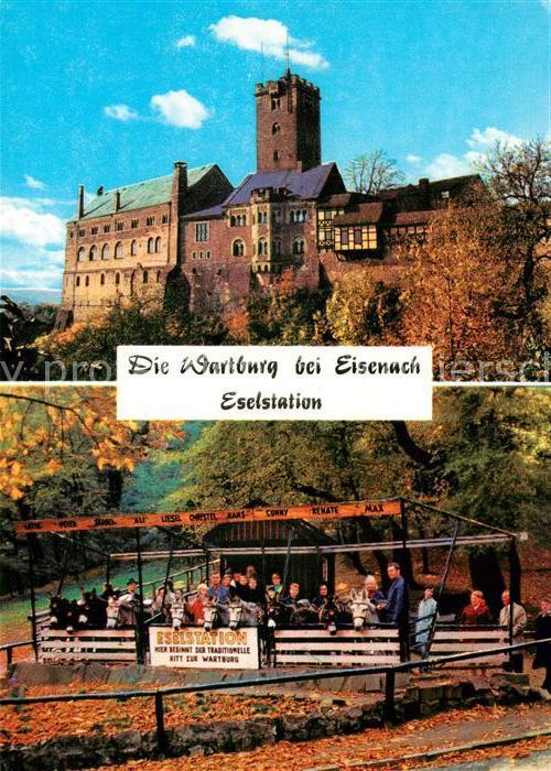 AK / Ansichtskarte Wartburg_Eisenach Eselstation Burg Wartburg Eisenach