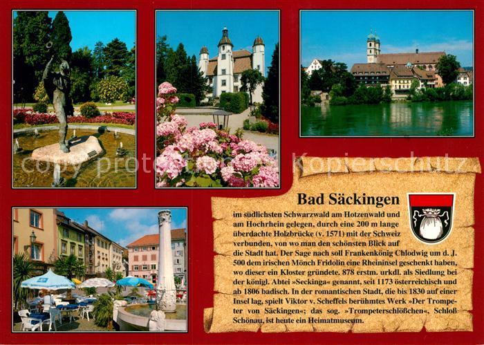 AK / Ansichtskarte Saeckingen_Bad Schloss Brunnen Muenster Saeckingen_Bad