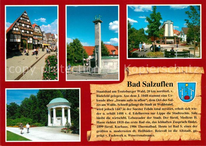 AK / Ansichtskarte Salzuflen_Bad Kurpark Denkmal Salzuflen_Bad