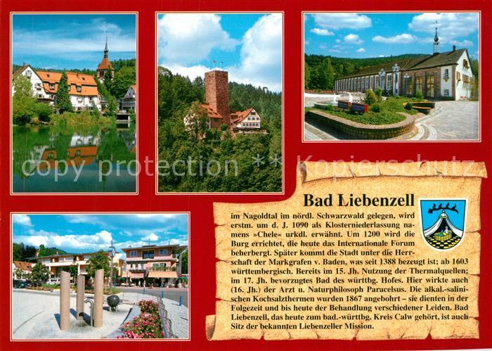 AK / Ansichtskarte Liebenzell_Bad Burg Kirche Liebenzell_Bad