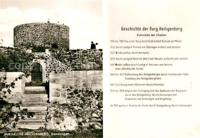 AK / Ansichtskarte Gensungen Burg Heiligenberg Gensungen