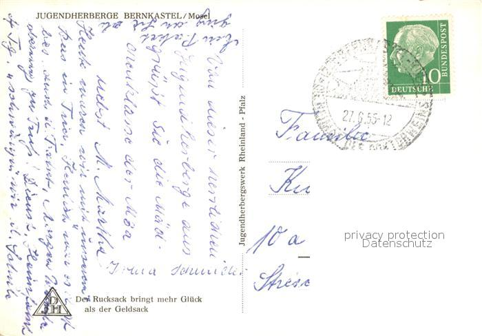 AK / Ansichtskarte Bernkastel Kues Jugendherberge Bernkastel Kues 1