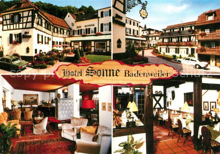 AK / Ansichtskarte Badenweiler Hotel Sonne Badenweiler 0