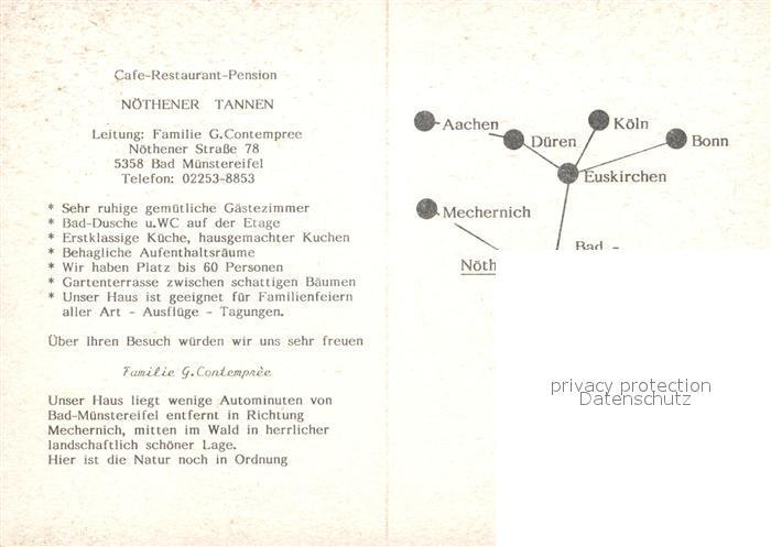 AK / Ansichtskarte Bad_Muenstereifel Nothener Tannen Bad_Muenstereifel 1
