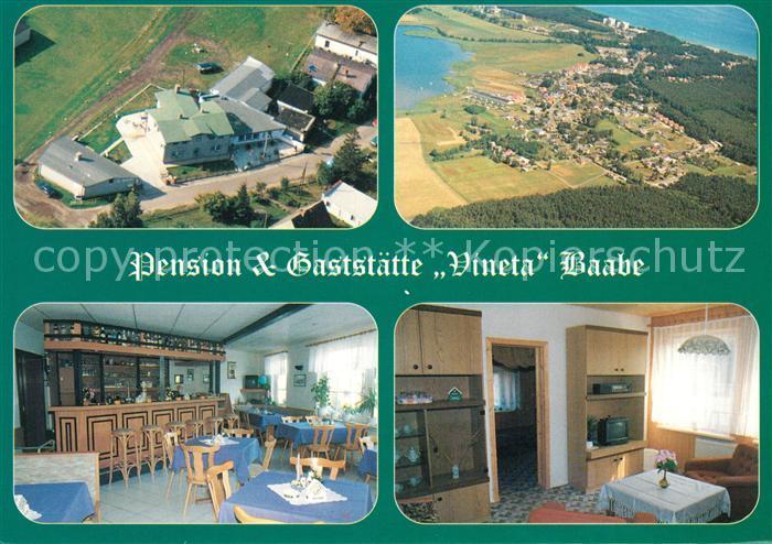 AK / Ansichtskarte Baabe_Ostseebad_Ruegen Pension Gaststaette Vineta Fliegeraufnahme Baabe_Ostseebad_Ruegen 0