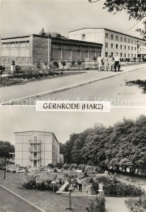 AK / Ansichtskarte Gernrode_Harz FDGB Ferienheim Fritz Heckert Gernrode Harz 0