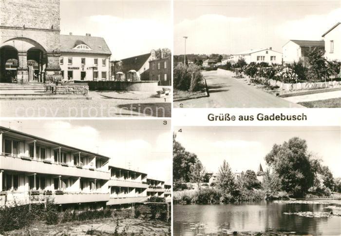 AK / Ansichtskarte Gadebusch Markt Goethering Neubauten Burgsee Gadebusch