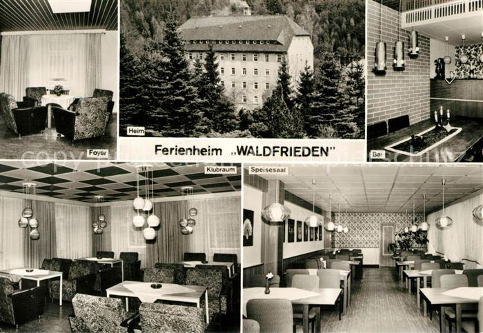 AK / Ansichtskarte Hammerleubsdorf Ferienheim Waldfrieden Betriebsferienheim der Deutschen Post Hammerleubsdorf