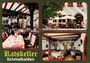 AK / Ansichtskarte Schmalkalden Ratskeller Restaurant Terrasse Schmalkalden