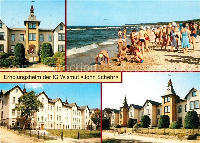 AK / Ansichtskarte Zinnowitz_Ostseebad Erholungsheim der IG Wismut Strand Zinnowitz_Ostseebad 0