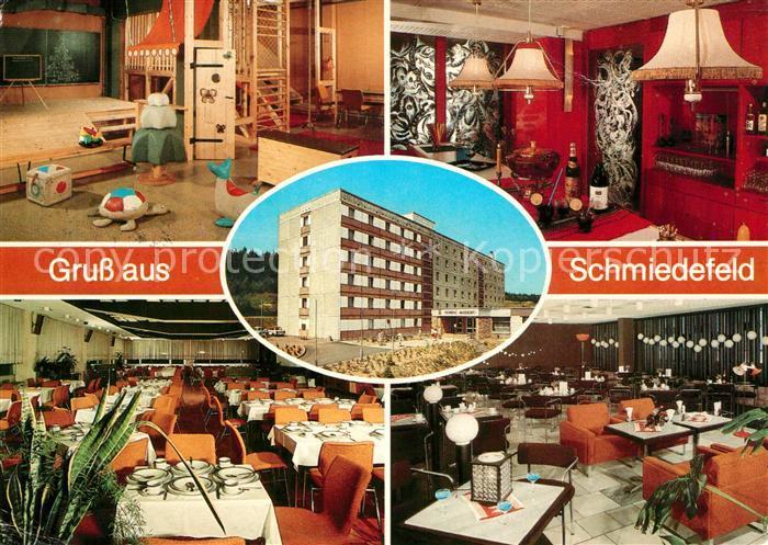 AK / Ansichtskarte Schmiedefeld_Rennsteig FDGB Erholungsheim Schoene Aussicht Spielzimmer Bar Speisesaal Tanzcafe Schmiedefeld_Rennsteig 0