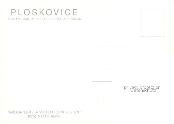 AK / Ansichtskarte Ploskovice Zamek Schloss Ploskovice 1