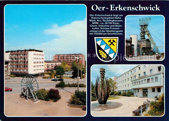 AK / Ansichtskarte Oer Erkenschwick Foerderturm Foerderrad Denkmal Oer Erkenschwick 0