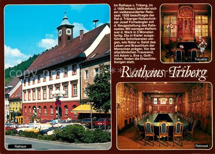 AK / Ansichtskarte Triberg_Schwarzwald Rathaus Ratssaal Traualtar Triberg Schwarzwald 0