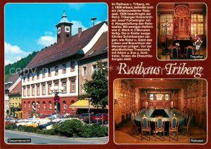 AK / Ansichtskarte Triberg_Schwarzwald Rathaus Ratssaal Chronik Triberg Schwarzwald