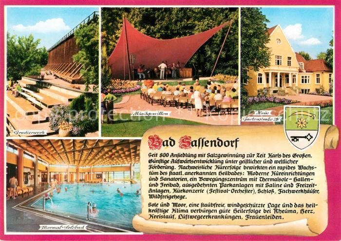 AK / Ansichtskarte Bad_Sassendorf Gradierwerk Musikpavillon Thermalsolebad Bad_Sassendorf 0