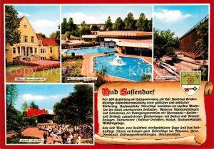 AK / Ansichtskarte Bad_Sassendorf Haus Gartenstrasse 28 Musikpavillon Gradierwerk Bad_Sassendorf