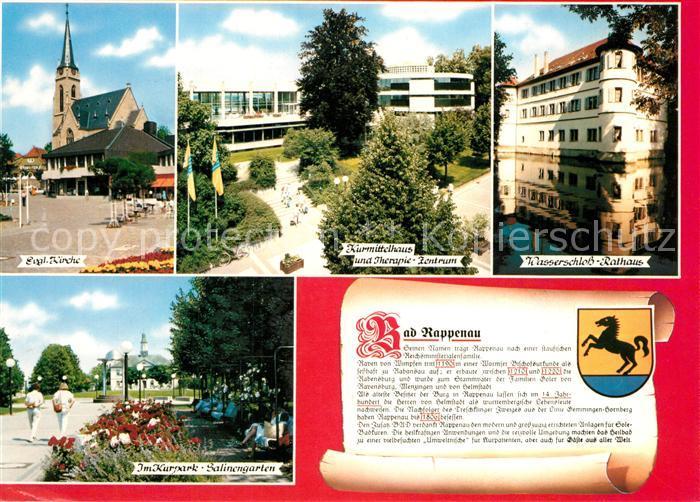 AK / Ansichtskarte Rappenau_Bad Kirche Kurmittelhaus Therapiezentrum Wasserschloss Rathaus Kurpark Rappenau_Bad 0