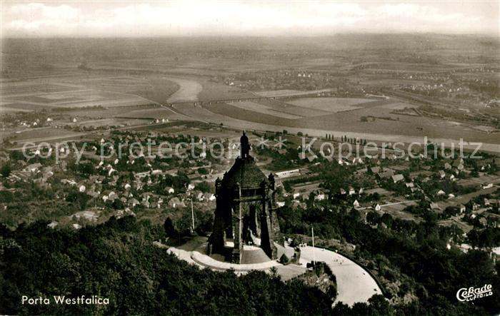 AK / Ansichtskarte Porta_Westfalica Kaiser Wilhelm Denkmal Fliegeraufnahme Porta_Westfalica 0