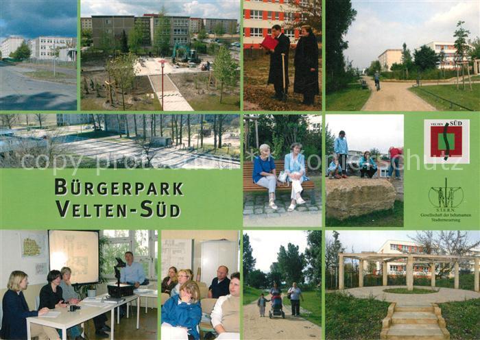 AK / Ansichtskarte Velten Buergerpark Velten