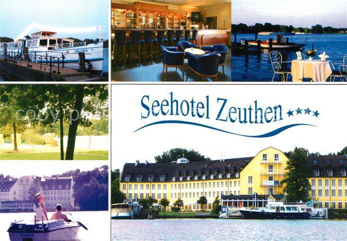 AK / Ansichtskarte Zeuthen Seehotel Bar Terrasse Bootsanleger Ausflugsdampfer Zeuthener See Zeuthen 0