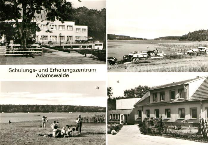 AK / Ansichtskarte Grosszerlang Schulungs und Erholungszentrum VEB Baukombinat Leipzig Bootshafen Palitzsee Grosszerlang 0