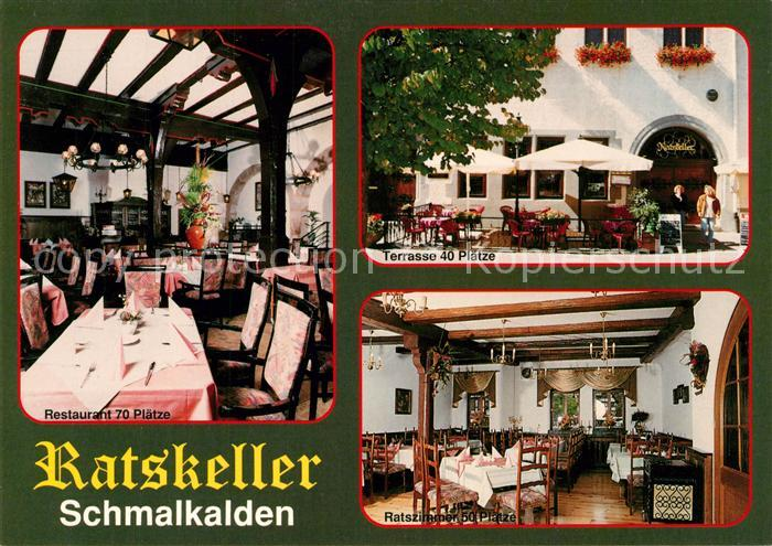 AK / Ansichtskarte Schmalkalden Ratskeller Restaurant Terrasse Schmalkalden 0